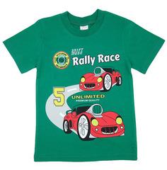 1294-4 футболка детская, зеленая