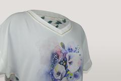 Блузка Milena 4776 цветы акварель к/р