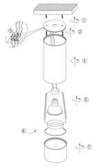 Накладной точечный светильник INL-7010D-01 White