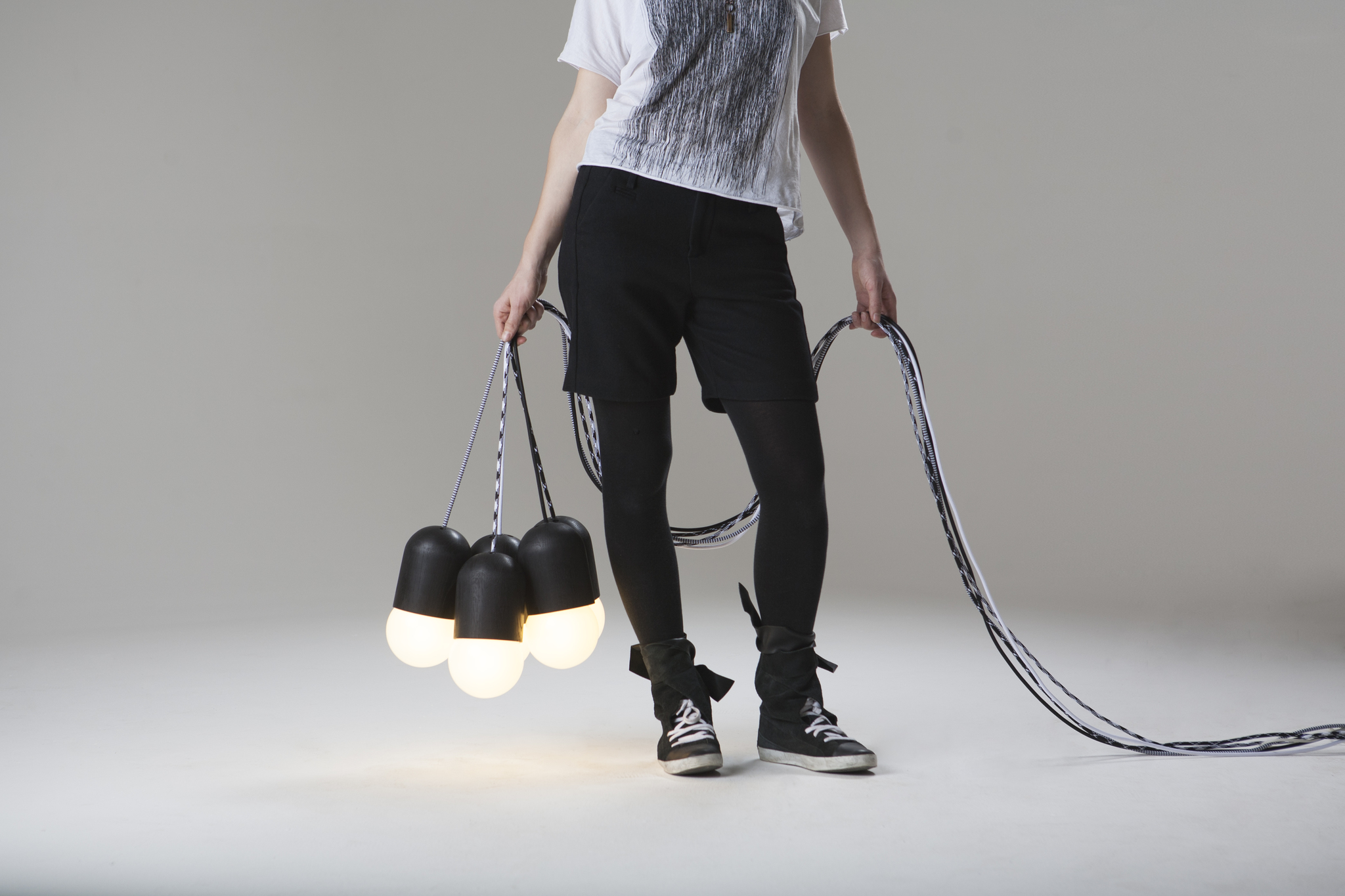 Подвесной светильник Glyph Light Bean Black