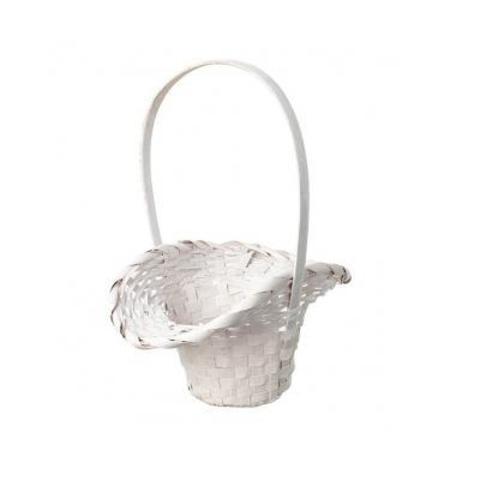 Корзина плетеная Шляпа (бамбук), D9x14/10xH30см, белый