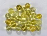 Бусина из янтаря прозрачного, лимонного, шар гладкий 7,5-8 мм