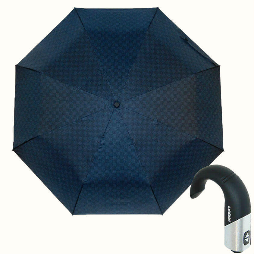 Зонт складной Baldinini 557-6 Cravatteria blu scacchi
