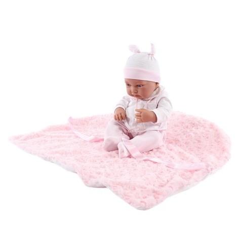 Кукла-младенец Эдуарда в розовом, 42 см, Антонио Хуан