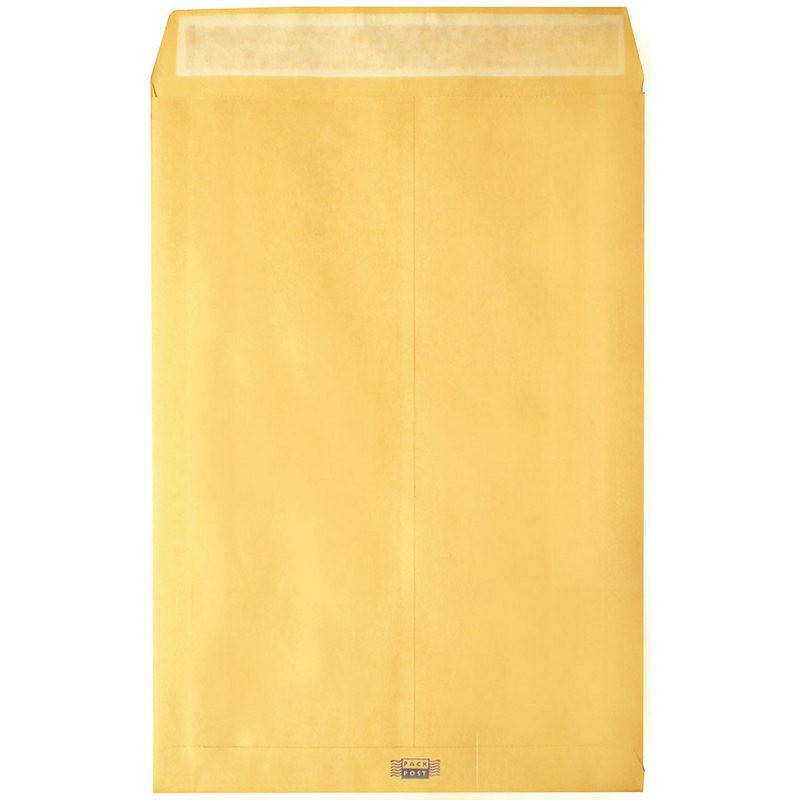 Пакет Largepack E4 из крафт-бумаги с расширением 120 г/кв.м стрип (200 штук в упаковке)