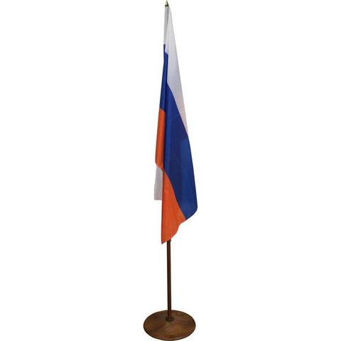 Флаг России напольный с вишневым флагштоком