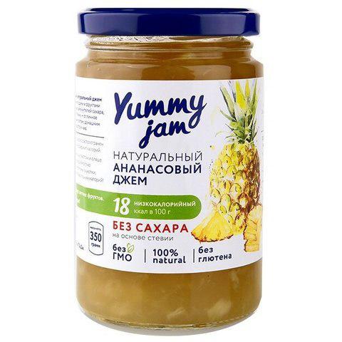 Джем ананасовый без сахара Yummy, 350г