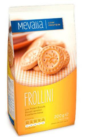 Песочное печенье с низ.сод.белка Frollini 200г Mеvаlia