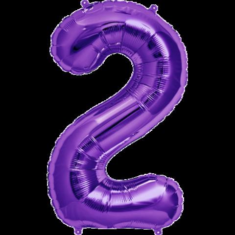 Цифра 2 пурпурный