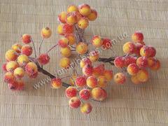 Сахарная калина на проволоке желто-оранжевая