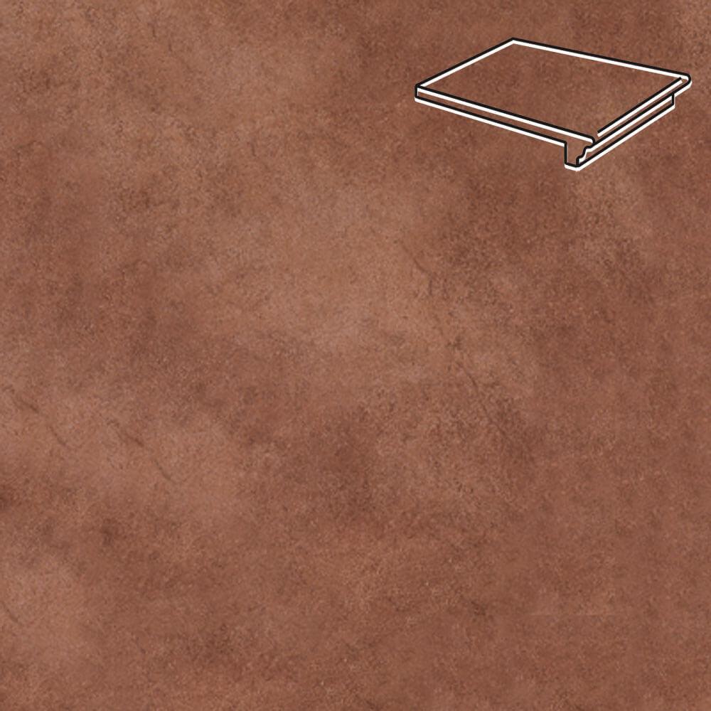 Interbau - Nature Art, Cognac braun/Шоколадный 360x320x9,5, цвет 114 - Клинкерная ступень - флорентинер