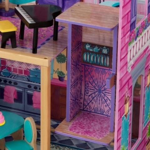 Деревянный домик Барби KidKraft Особняк мечты с мебелью 13 элементов 65082_KE