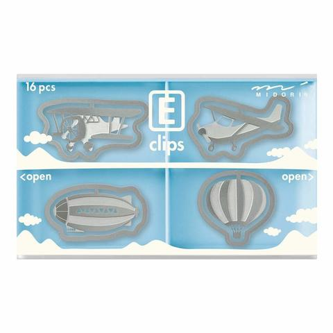 Скрепки Midori E-Clips Air Vehicle (16 шт)
