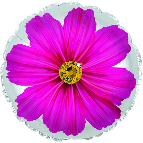 Фольгированный шар Гербера розовый