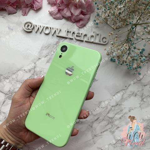 Чехол iPhone XR Glass Full color Case Logo /green/