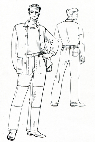 выкройки рабочих брюк
