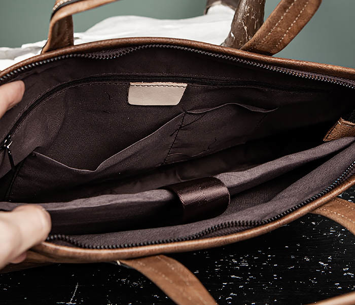 BAG510-2 Мужской кожаный портфель с ремнем на плечо фото 09