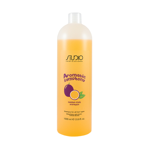 Шампунь для всех типов волос Маракуйя 1000 мл. Kapous Studio