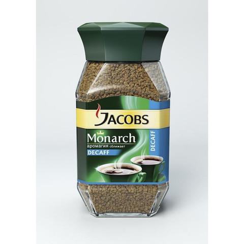Кофе растворимый Jacobs Monarch Decaf 95 г (стекло)
