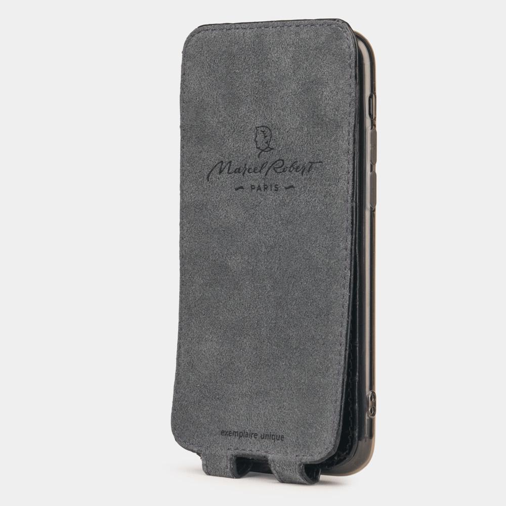 Special order: Чехол для iPhone 11 Pro из натуральной кожи крокодила, цвета черный лак