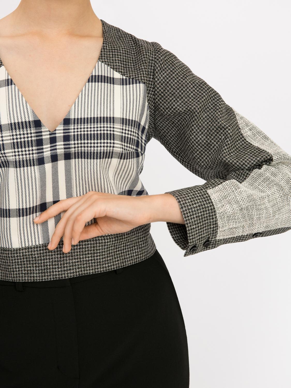 Блуза из микса тканей