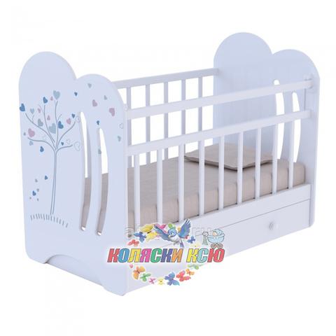 Кровать детская WIND TREE c маятником и ящиком