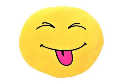 Подушка Emoji Crazy (Эмоджи Забавный, 28 см)