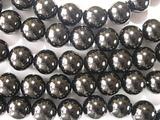 Нить бусин из шунгита, шар гладкий 12мм