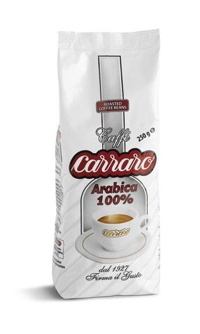 Carraro Arabica 100% (Карраро 100% Арабика) 500г. кофе в зёрнах