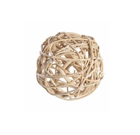 Плетеные шары из ротанга (набор:12 шт., d5см, цвет: натуральный)
