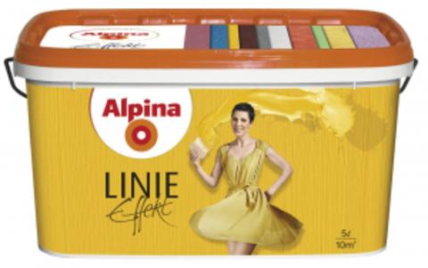 Alpina Linie Effekt / Альпина Эффект Линии матовая кремообразная структурная краска