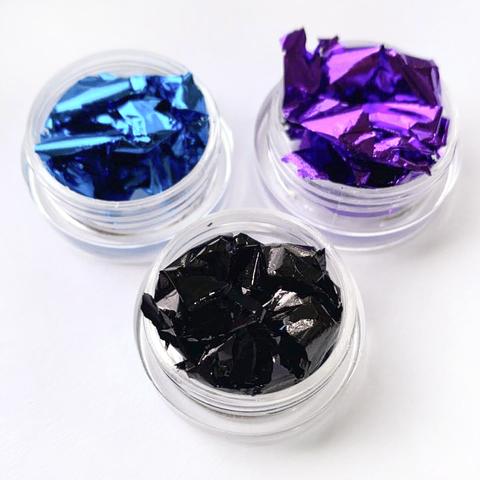 Слюда для ногтей  (фиолетовый)