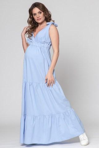 Платье для беременных 10335 голубой