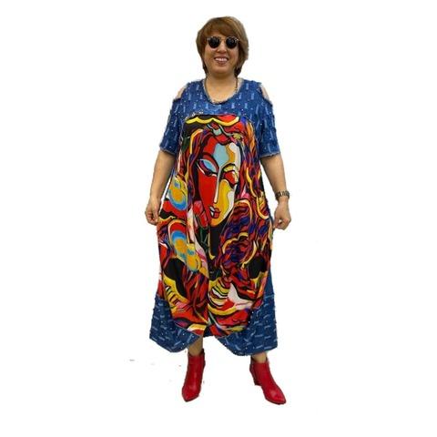 Платье джинс Дева