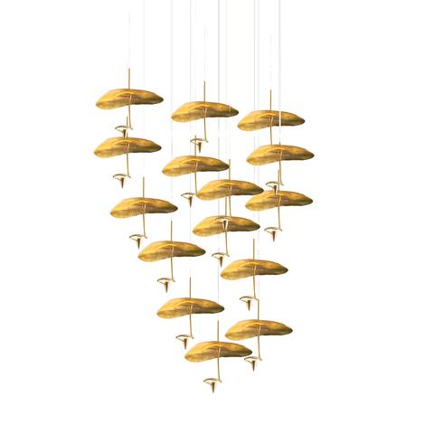 Подвесной светильник копия Gold Moon by Catellani & Smith (15 плафонов)