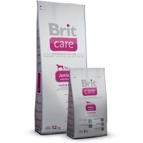 2349 Brit Care Junior Large Breed д/щенков Крупных пород, ягненок с рисом  3кг*1