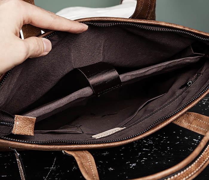 BAG510-2 Мужской кожаный портфель с ремнем на плечо фото 11
