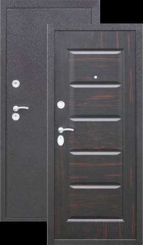 Дверь входная Сибирский Стандарт Арабика, 2 замка, 0,8 мм  металл, (венге+медь антик)