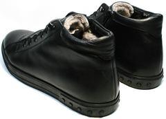 Мужские кожаные зимние ботинки кеды Ridge 6051 X-16Black