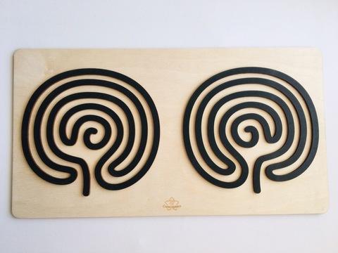 Трафареты графомоторные Мозг для одновременного рисования двумя руками Сенсорика