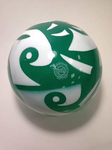 Мяч AMAYA 18,5 см мраморный зеленый для художественной гимнастики
