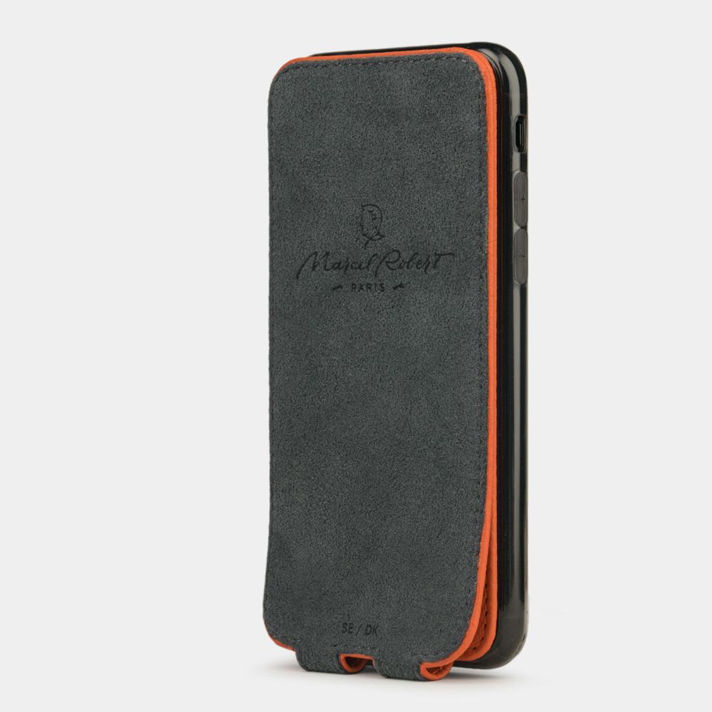 Чехол для iPhone 7 из натуральной кожи теленка, оранжевого цвета