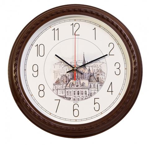 Часы настенные аналоговые Бюрократ WallC-R63P D29см коричневый