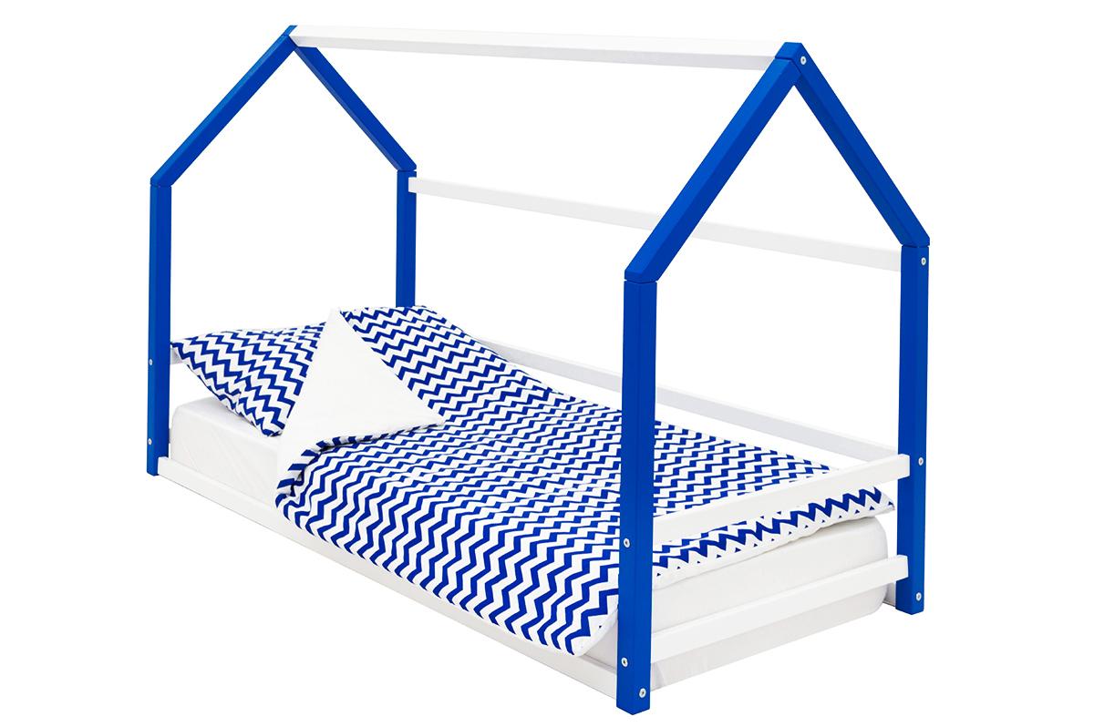 Кровать-домик Монтессори «Svogen» сине-белый