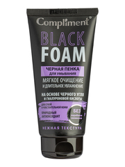 Compliment Black Foam Черная пенка для умывания  мягкое очищение и длительное увлажнение