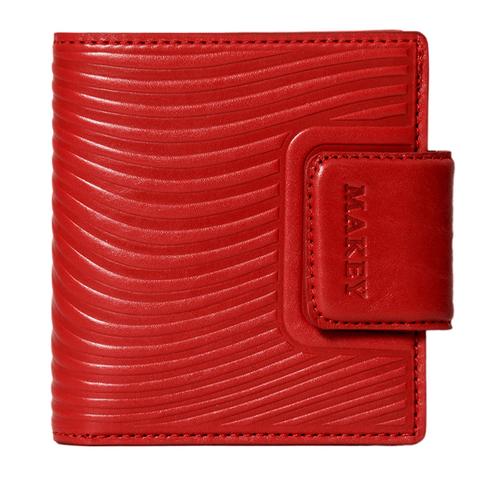 Кошелёк mini «Waves». Цвет красный