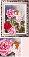 048-1738 Эльф и роза (23*33см) Набор Вышивка лентами