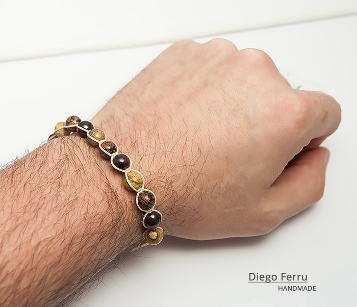 BS744 Красивый мужской браслет ручной работы, Diego Ferru фото 07