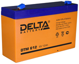 Аккумулятор Delta DTM 612 ( 6V 12Ah / 6В 12Ач ) - фотография