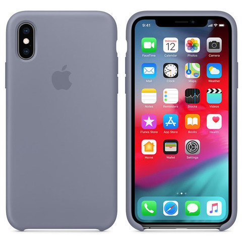 iPhone XS Silicone Case Lavender Gray